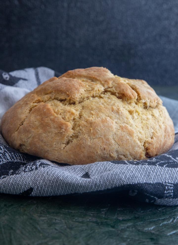 tea bread on a napkin