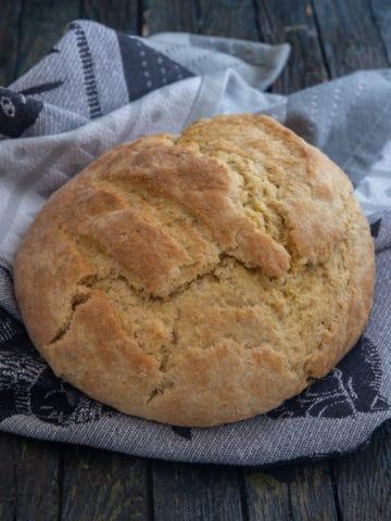 tea bread on a black napkin